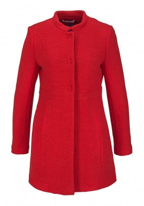 STEFANEL raudonas vilnos paltas