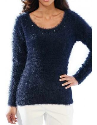"Mėlynas megztinis ""Flufy"""