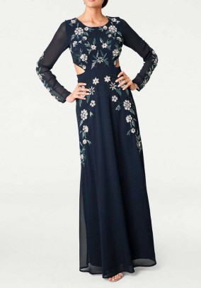 Evening gown, navy