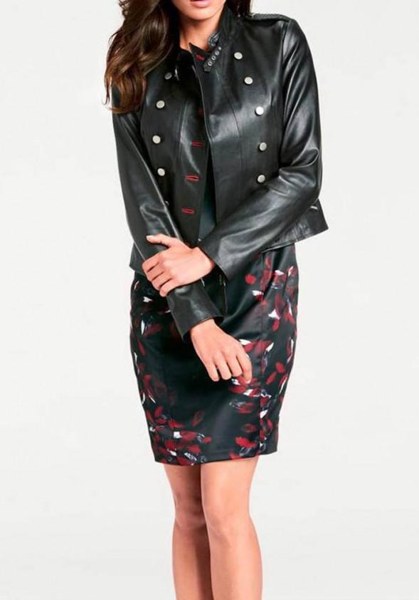 9d2df82fb9 Lamb nappa leather jacket, black