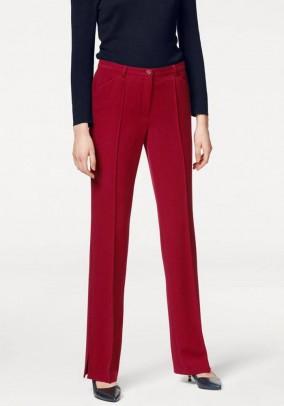 Raudonos klasikinės kelnės