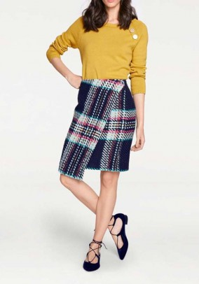 Wrap skirt, navy-multicolour