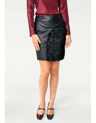Ekstravagantiškas odinis sijonas