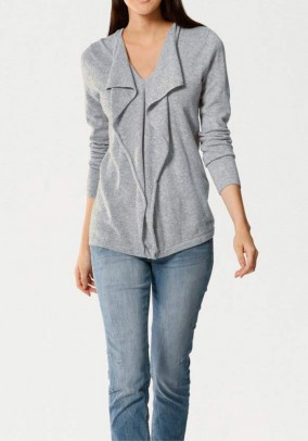 Šilko ir kašmyro pilkas megztinis