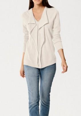 Cashmere sweatshirt, offwhite