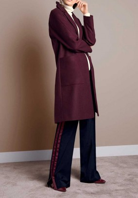 Wool coat, bordeaux