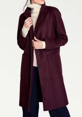 Bordo paltas su vilna. Liko 44 dydis