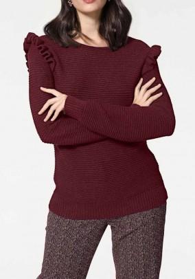"Bordo spalvos megztinis ""Dina"""