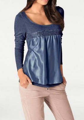Patch shirt, denim blue