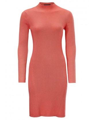 Koralinė merino vilnos suknelė