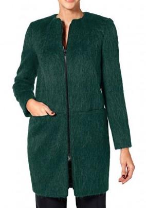 Žalias paltas su vilna