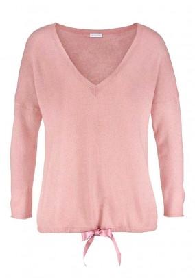 Vilnos ir kašmyro rausvas megztinis