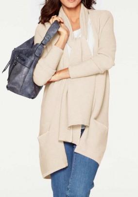 Smėlinis merino vilnos megztinis