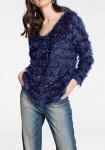Mėlynas megztinis su žvyneliais