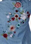 Siuvinėti džinsiniai marškiniai