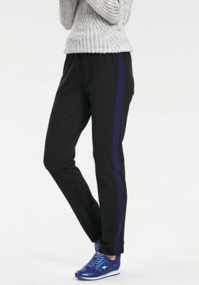 Track pants, black-blue