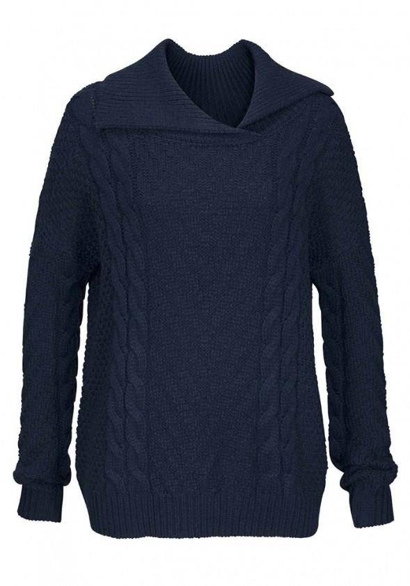 Mėlynas žieminis megztinis