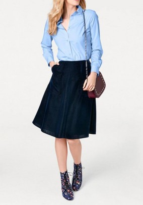 Velvet skirt, dark blue