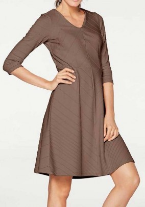 """Ruda elegantiška suknelė """"Dina"""""""