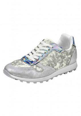 Velvet sneakers, silver