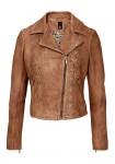 Lamb nappa leather jacket, brown