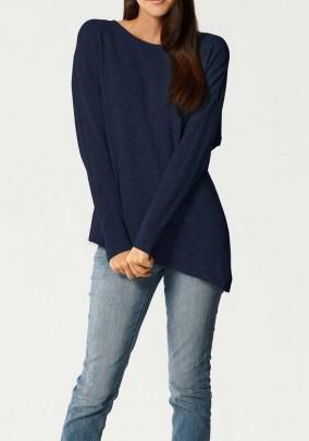 Mėlynas kašmyro ir šilko megztinis