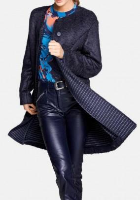 Mėlynas moheros paltas. Liko 38 dydis