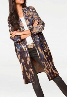Jacquard coat, multicolour