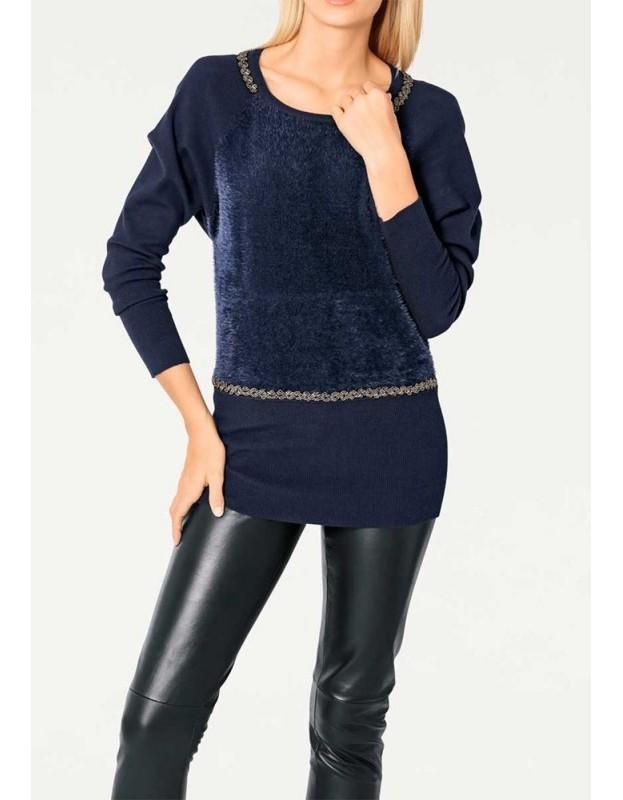 """Originalus mėlynas megztinis """"Star"""""""