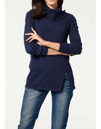 """Mėlynas megztinis su šilku """"Turtle"""""""