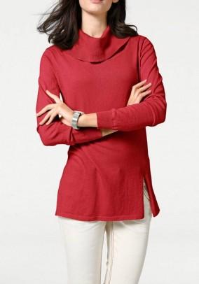 """Raudonas megztinis su šilku """"Turtle"""""""