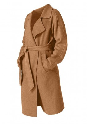 Rudas vilnos paltas. Liko 40 dydis