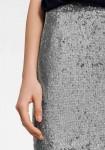 Dekoruotas sidabrinis sijonas