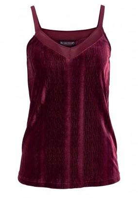 Velvet top, bordeaux