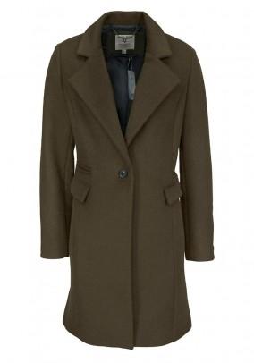 Women's wool coat, olive