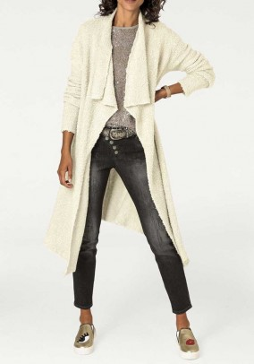 Knit coat, offwhite