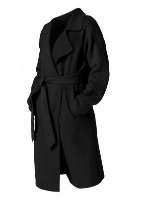 Juodas Guido Maria Kretschmer vilnos paltas