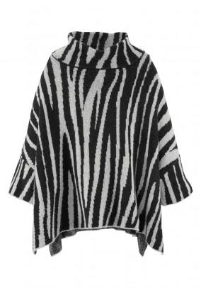 Oversize sweatshirt, black-stone