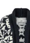 Itin ilgas mėlynas megztinis - paltas su vilna