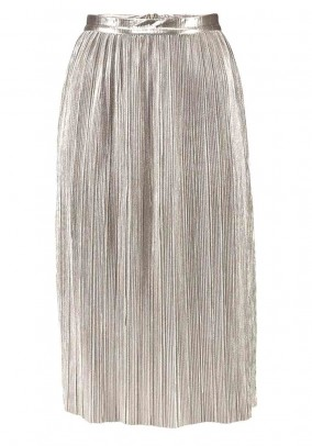 Pleat skirt, silver coloured