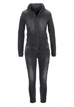 Jeans jumpsuit, black-used