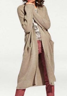Knit coat, sand