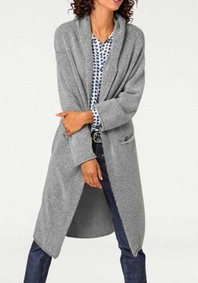 """Pilkas ilgas megztinis """"Longi"""""""