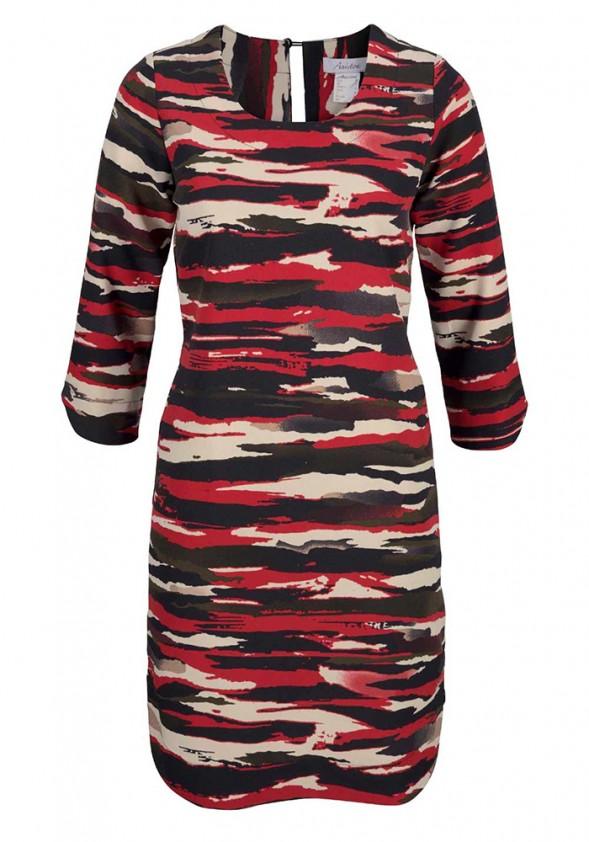 """Raudona marginta suknelė """"Ana"""""""