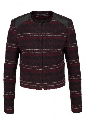 Short jacket, bordeaux-black