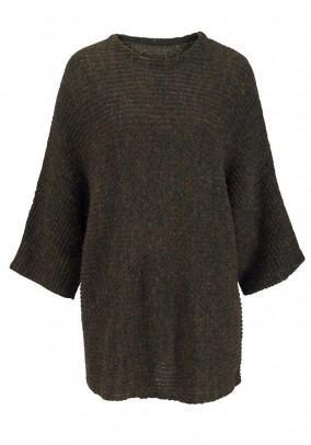 Oversize sweatshirt, navy-golden