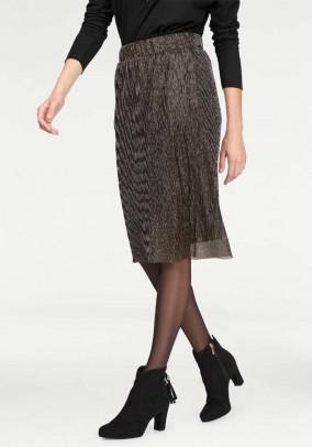 Pleat skirt, black-gold coloured