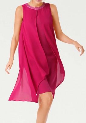Rožinė kokteilinė suknelė. Liko 34/36 dydis