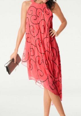 Koralinė vakarinė suknelė. Liko 40 dydis