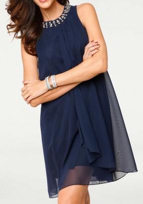 Mėlyna kokteilinė suknelė. Liko 38 dydis